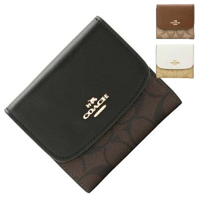 コーチ COACH 三つ折り財布 f87589 | ファスナー 小銭入れ さいふ サイフ ウォレット 財布 カード入れ 多い レディース かわいい 可愛い おしゃれ オシャレ 小さい 小さめ コンパクト 薄い 軽い ブランド レザー 本革 アウトレット