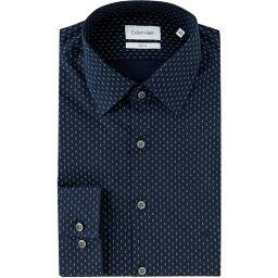 カルバン・クライン カルバンクライン Calvin Klein メンズ シャツ スリム トップス【Slim Fit Stretch Shirt】Navy