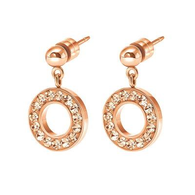 フォリフォリ レディース ジュエリー・アクセサリー イヤリング・ピアス【Classy Drop Earrings】rose gold