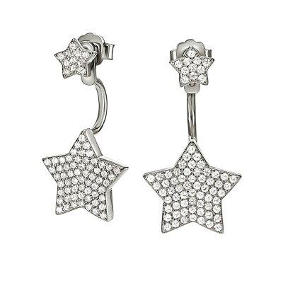 フォリフォリ レディース ジュエリー・アクセサリー イヤリング・ピアス【Fashionably Silver Starry Sky Earrings】