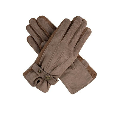 デンツ Dents レディース 手袋・グローブ【Ladies Fancy Suede Gloves With Knitted Sidewalls】oatmeal