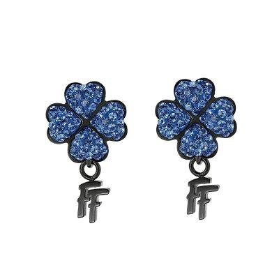 フォリフォリ Folli Follie レディース ジュエリー・アクセサリー イヤリング・ピアス【H4h Black Steel & Blue Gemstone Earrings】black