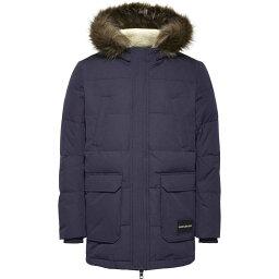 カルバン・クライン カルバンクライン Calvin Klein Jeans メンズ コート フード アウター【CK Jeans Faux Fur Hooded Parka Coat】Navy
