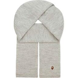ア ベイシング エイプ アベイシングエイプ a bathing ape メンズ アクセサリー スカーフ・マフラー【one knitted wool scarf】Grey