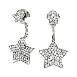 フォリフォリ ピアス(レディース) フォリフォリ レディース ジュエリー・アクセサリー イヤリング・ピアス【fashionably silver star ear jacket studs】Silver