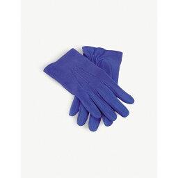 ロエベ 手袋(メンズ) ロエベ レディース 手袋・グローブ【suede piping gloves】Electric blue