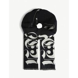 アレキサンダー・マックイーン アレキサンダー マックイーン alexander mcqueen メンズ マフラー・スカーフ・ストール【logo print scarf】Black ivory