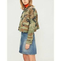 トップショップ トップショップ topshop レディース アウター ジャケット【benny camouflage-print cotton jacket】Khaki
