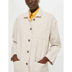 トップショップ トップショップ topshop レディース アウター コート【longline cotton and linen-blend coat】Stone
