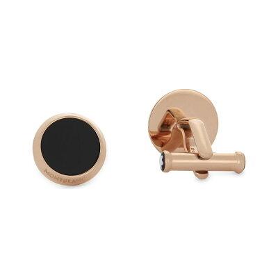 モンブラン montblanc メンズ カフス・カフリンクス【rose gold-tone meisterstuck cufflinks】Gold black