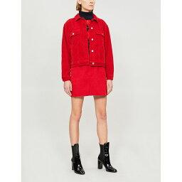 トップショップ トップショップ topshop レディース アウター ジャケット【corduroy cotton boxy jacket】Red