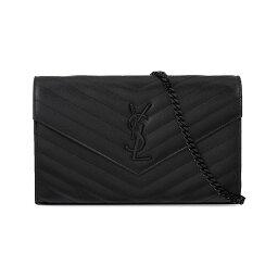 クラッチバッグ イヴ サンローラン saint laurent レディース バッグ クラッチバッグ【monogram quilted leather envelope clutch】Black