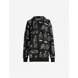 ボーイロンドン ボーイロンドン BOY LONDON レディース トップス パーカー【Brand-print boyfriend-fit cotton-jersey hoody】Black
