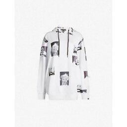 ボーイロンドン ボーイロンドン BOY LONDON レディース トップス パーカー【Logo-print boyfriend-fit cotton-jersey hoody】White