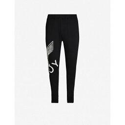 ボーイロンドン ボーイロンドン BOY LONDON メンズ スウェット・ジャージ ボトムス・パンツ【Graphic-print cotton-jersey jogging bottoms】BLACK/WHITE