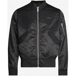 ボーイロンドン ボーイロンドン BOY LONDON メンズ ブルゾン ミリタリージャケット アウター【Reversible logo-print bomber jacket】BLACK