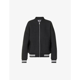 ボーイロンドン ボーイロンドン BOY LONDON メンズ ジャケット アウター【Stick logo-embroidered cotton-jersey jacket】BLACK