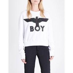 ボーイロンドン ボーイロンドン boy london レディース トップス トレーナー・パーカー【eagle-embroidered cotton-jersey sweatshirt】White