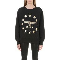 ボーイロンドン ボーイロンドン boy london レディース トップス トレーナー・パーカー【metallic globe star eagle sweatshirt】Black gold