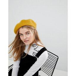 エイソス エイソス ASOS DESIGN レディース 帽子【wool beret】Mustard
