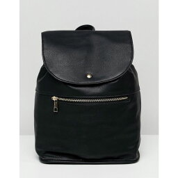 エイソス エイソス ASOS DESIGN レディース バッグ バックパック・リュック【soft backpack with zip detail】Black