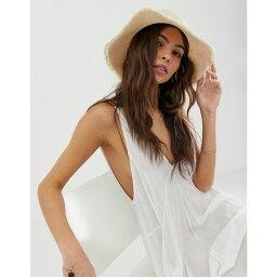エイソス エイソス ASOS DESIGN レディース 帽子 ハット【raw edge soft bucket hat】Cream