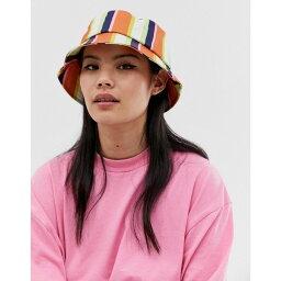 エイソス エイソス ASOS DESIGN レディース 帽子 ハット【stripe bucket hat】Multi