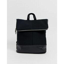 エイソス エイソス ASOS DESIGN レディース バックパック・リュック バッグ【foldover backpack】Black
