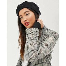 エイソス エイソス ASOS DESIGN レディース 帽子 ベレー帽【wool beret】Black