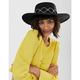 エイソス エイソス ASOS DESIGN レディース 帽子 ハット【felt matador hat with multi ring strap】Black