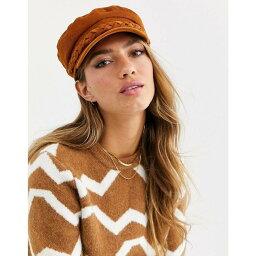 エイソス エイソス ASOS DESIGN レディース 帽子 キャスケット【baker boy cord hat with plait detail in tan】Tan