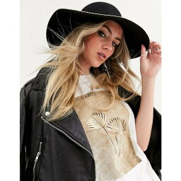 エイソス エイソス ASOS DESIGN レディース 帽子 【felt hat with chain trim with size adjuster】Black