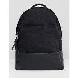 エイソス エイソス ASOS DESIGN レディース バックパック・リュック バッグ【large canvas backpack】Black