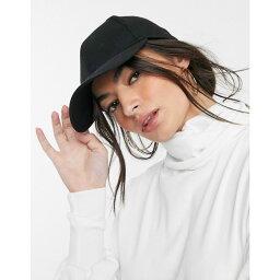 エイソス エイソス ASOS DESIGN レディース キャップ 帽子【plain baseball cap with improved fit in black】Black