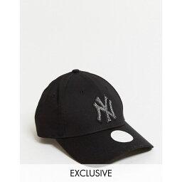 ニューエラ ニューエラ New Era レディース 帽子 ラインストーン【Exclusive 9Forty cap in black with rhinestone NY】Black/rhinestone