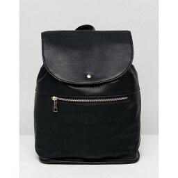 エイソス エイソス ASOS DESIGN レディース バックパック・リュック バッグ【soft backpack with zip detail】Black