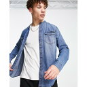 カルバン・クライン カルバンクライン Calvin Klein Jeans メンズ シャツ トップス【collar band shirt】Blue