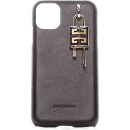 ジバンシィ スマホケース ジバンシー GIVENCHY ユニセックス スマホケース 【Lock iPhone 11 Leather Case】Black
