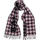 バレンシアガ バレンシアガ Balenciaga レディース マフラー・スカーフ・ストール 【Houndstooth And Logo-Intarsia Wool-Blend Scarf】Pink