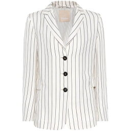 マックスマーラ マックスマーラ レディース アウター スーツ・ジャケット【Rio striped blazer】White/Black