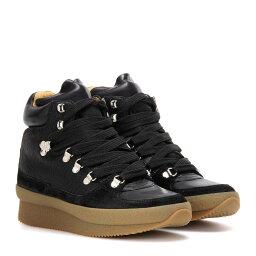 イザベルマラン イザベルマラン Isabel Marant レディース シューズ・靴 スニーカー【etoile Brent concealed wedge leather, suede and fabric ankle boots】