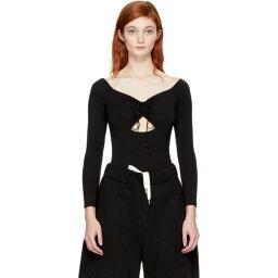 アレキサンダー・ワン アレキサンダー ワン T by Alexander Wang レディース インナー・下着 ボディースーツ【Black Lace-Up Off-the-Shoulder Bodysuit】