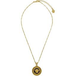 ヴェルサーチ ヴェルサーチ Versace レディース ジュエリー・アクセサリー ネックレス【Black & Gold Medusa Pendant Necklace】
