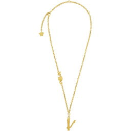 ヴェルサーチ ヴェルサーチ Versace レディース ネックレス ジュエリー・アクセサリー【Gold V Leaves Necklace】
