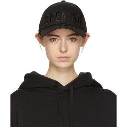 ニューエラ オープニングセレモニー レディース 帽子 キャップ【Black New Era Edition Satin Stitch Logo Cap】