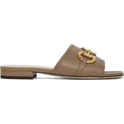 グッチ グッチ Gucci レディース サンダル・ミュール シューズ・靴【Beige Horsebit Dava Sandals】Mud