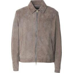 ダンヒル ダンヒル DUNHILL メンズ レザージャケット アウター【Leather Jacket】Dove grey