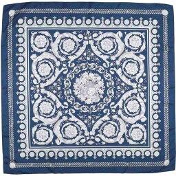 ベルサーチ マフラー(レディース) ヴェルサーチ VERSACE レディース マフラー・スカーフ・ストール 【square scarf】Dark blue