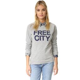 フリーシティ フリーシティ FREECITY レディース トップス トレーナー・パーカー【STR8UP Raglan Sweatshirt】Heather Blue