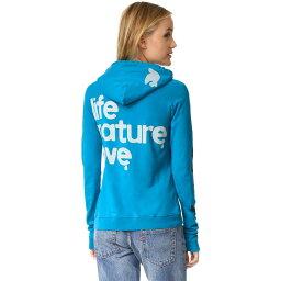 フリーシティ フリーシティ FREECITY レディース トップス トレーナー・パーカー【Life Nature Love Pullover Hoodie】Blue Machine